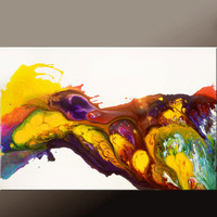 Abstract Art Painting on Canvas 36x24 Original Contemporary Paintings by Destiny Womack - dWo - Pure Joy