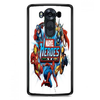 Marvel Heroes And Comic Book LG V30 Plus Case | Casefruits