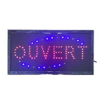 Neon Lights LED Animated Open Sign Customers Attractive Sign 220V France