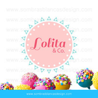 OOAK Premade Logo Design - Pastel Circle - Perfect for a handmade underwear firm or a cake designer
