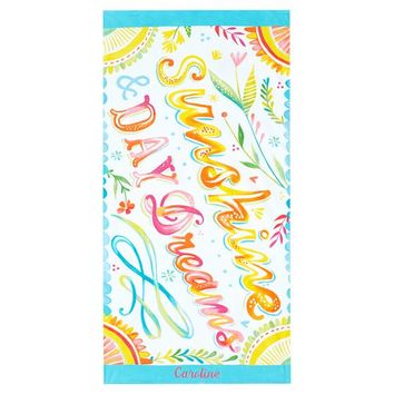 Sunshine and Daydreams Beach Towel
