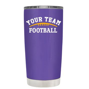 TREK Custom Football Team on Purple 20 oz Tumbler Cup