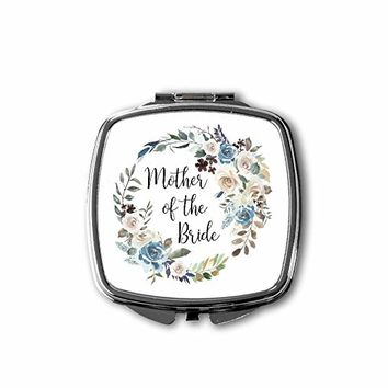 Mother of the Bride Compact Makeup Mirror - Wedding Party Gifts