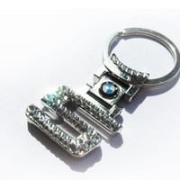 Bling AUDI keychain with crystals / Audi sleutelhanger / bling car logo / bling audi logo / bling audi emblem / audi key fob