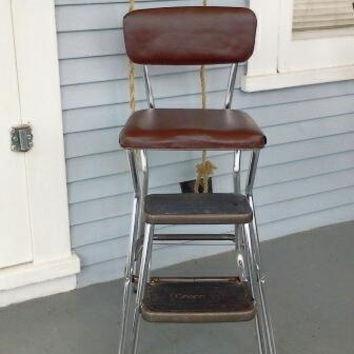 Cosco Kitchen Chair Fold Out Step Stool Combo Brown Vinyl and Chrome & Shop Folding Step Stool on Wanelo islam-shia.org