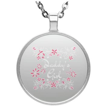 14 daddys girl UN4686 Circle Necklace