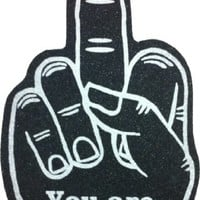 """You Are #1"" Large Foam Middle Finger Mitt"