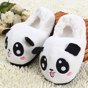 Panda Slippers Pantoufle Femme Women Shoes Woman House Animal Warm Big Animal Woman Funny Adult Slippers