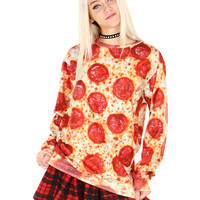 PEPPERONI PIZZA SWEATER