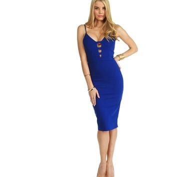 Royal Girl Of Your Dreams Midi Dress