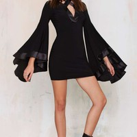 Nasty Gal Hollywood Cruisin' Bell Sleeve Dress