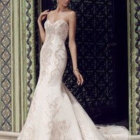 Casablanca Bridal 2189 Strapless Beaded Fit & Flare Wedding Dress