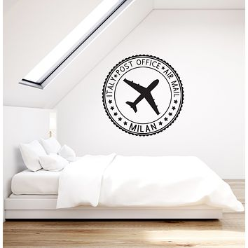 Vinyl Wall Decal Post Stamp Italy Air Mail Bedroom Living Room Decor Stickers Mural (ig6092)