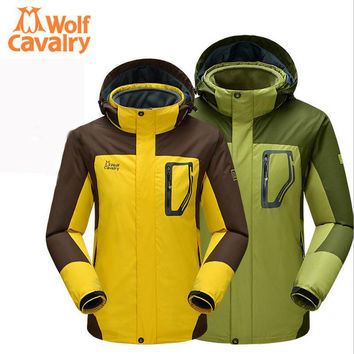 Travel outdoor camping waterproof windproof jacket coat thicker Women Men's winter jacket hunting clothes
