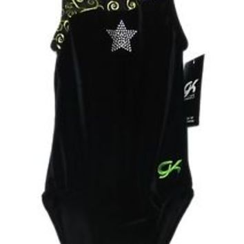 GK Elite Gymnastics Leotard - Black Velvet - CXS Child Extra Small NEW