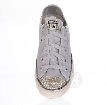 Converse Chuck Taylor? All Star? Chuckout Washed Canvas With Swarovski Crystal Toe In - Beauty Ticks