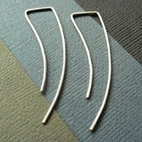 Streamlined Sterling Silver Earrings