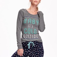 Old Navy Graphic Waffle Knit Tee