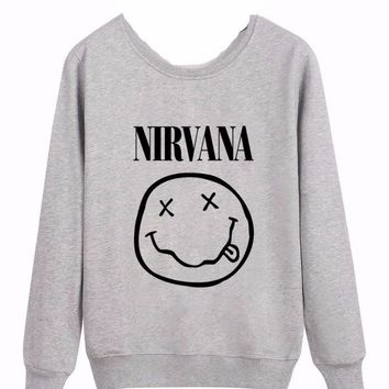 NIRVANA Smiley Face Pullover Sweatshirt