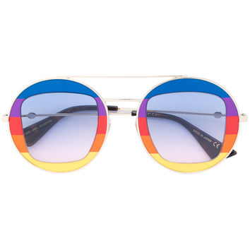 Gucci Eyewear Rainbow Round Frame Sunglasses - Farfetch