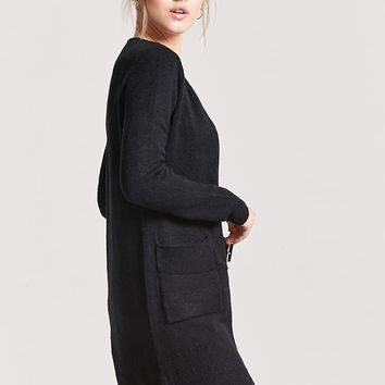 Longline Brush Knit Cardigan