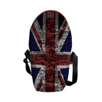 Grungy Union Jack Flag Commuter Bag from Zazzle.com