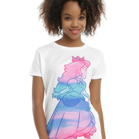 Super Mario Princess Peach Watercolor Girls T-Shirt