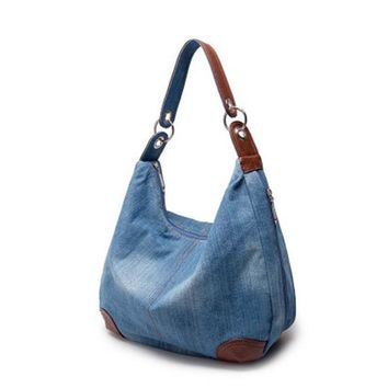 Large Luxury Handbags New Women Bag Designer Ladies Hand bags Big Purses Jean Denim Tote Shoulder Crossbody Women Messenger Bag