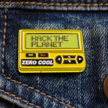 Hack the Planet Enamel Pin