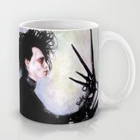 Edward Scissorhands: The story of an uncommonly gentle man. Mug by Rouble Rust