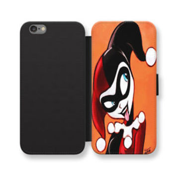 Harley Quinn Wallet iPhone Cases Superhero Samsung Wallet Leather Phone Cases
