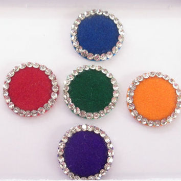 Sarika Beautiful Colored round Bindis Studded With Rhinestones/ Indian India Bindis/ / Bindi Sticker/ Bindi Jewels/ Face Jewels