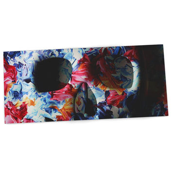 "Danny Ivan ""Skull Light"" Blue Pink Desk Mat"