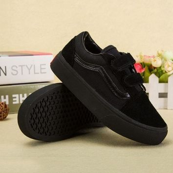 Vans Girls Boys Children Baby Toddler Kids Child Breathable Sneakers Sport Shoes-9