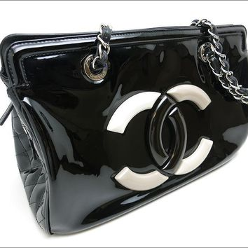 Authentic CHANEL COCO Mark Chain Tote Bag A47926 (CNB0444)