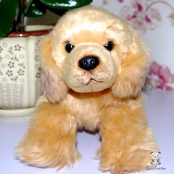 Lying Golden Retriever Dog Stuffed Animal Plush Toy 12""