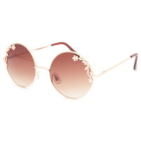 Full Tilt Leila Sunglasses Gold One Size For Women 23833862101