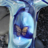 Butterfly Color changing Glass pipe American Made
