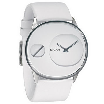 Nixon A186100 Women's The Rayna White Dial White Leather Strap Watch