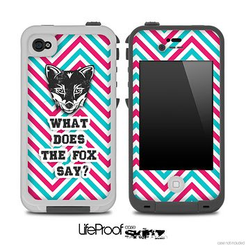 What Does the Fox Say Blue And Pink Skin for the iPhone 5 or 4/4s LifeProof Case