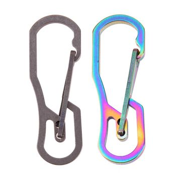 Multifunction Tool Titanium High Loading-bearing Hook EDC Tool Keychain 25KN Carabiner Camping Hiking Outdoor Tool 2 Colors