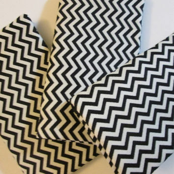 Black and White Chevron Checkbook Cover, Set of 3, Checkbook Case, Women's Accessories, Checkbook wallet