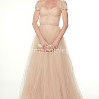 US $147.29 Charming Princess Sweetheart Floor-length Dressess Inspired by Julie Bowen at 69th Golden Globe Awards