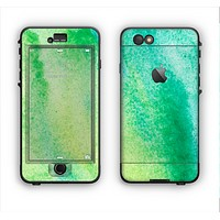 The Vibrant Green Watercolor Panel Apple iPhone 6 Plus LifeProof Nuud Case Skin Set