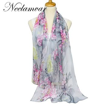 new 2017 spring and autumn winter women sheer chiffon georgette soft oblong scarves women's beach scarves shawl Cachecol
