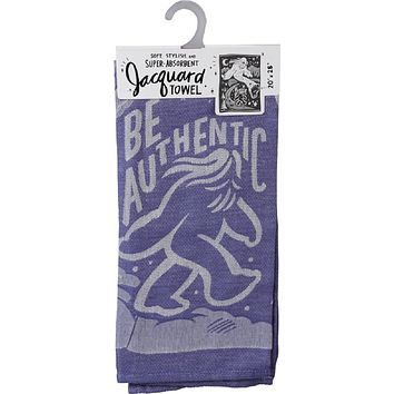 Be Authentic Big Foot Dish Towel in Violet