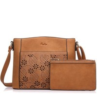 Women Messenger Bags Vintage Floral Hollow Out Design Handbag Female Small Shoulder Bag Coin Purse