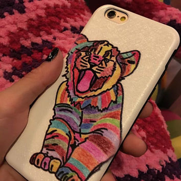Multicolor Tiger Case Cover for iphone 6 6s Plus Gift 215