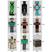 NEW Minecraft Toys 9 styles Sword Pickaxe Stone Bed Box Model Toys Action Figure Kids Toys Christmas gift