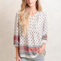 Make The Journey Printed Blouse